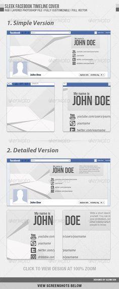 Sleek Facebook Timeline Cover - Facebook Timeline Covers Social Media