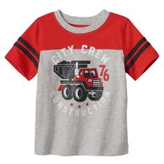 Baby Boy Jumping Beans® Varsity Stripe Graphic tee, Size: