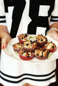 muffiny jaglane z jagodami