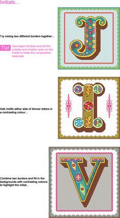 Monogram needlepoint?? I love the colors