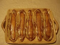 Serving Platter Embossed with Corn on the Cob by CyclopsArt
