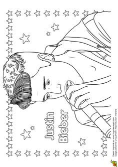 justin bieber coloring pages 2013 - photo#39