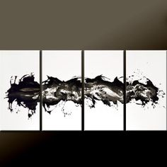 Abstract Canvas Art Painting 4pc 72x36