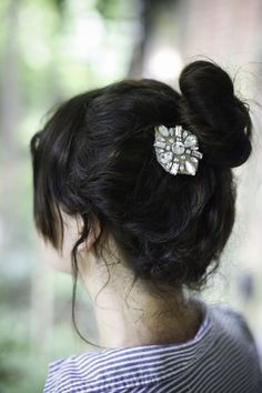 DIY: jewel hair clips