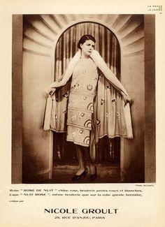 Nicole Groult est couturière, soeur de Paul Poiret et promeut le style garçonne. 1927
