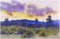 Charles Partridge Adams (American, 1858-1942), Landscape, watercolor on paper…