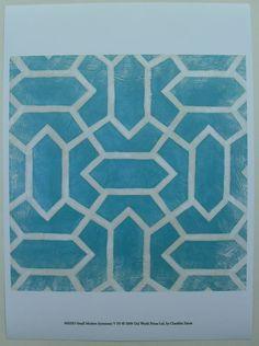 $17.50  Blue Patterns Abstract ART Print Small Modern Symmetry V BY Chariklia Zarris | eBay #art
