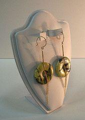 """Yellow """"turquoise"""" earrings"""