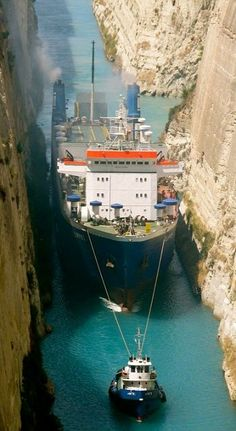 Corinth Canal in Greece, built in 1881, and connects the Gulf of Corinth with the Saronic Gulf in the Aegean Sea.