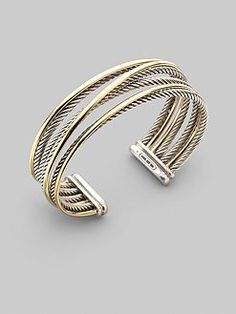 Crossover cuff. David Yurman