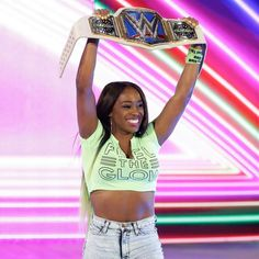 WWE Naomi....The Blue Women Champion for Smack Down Live female division...2017.