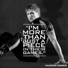 """I can't go down without a fight."" - Peeta Mellark, #TheHungerGames"
