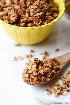 This extra crunchy super seed granola is crispy, crunchy, slightly sweet and down right addicting. You've been warned.