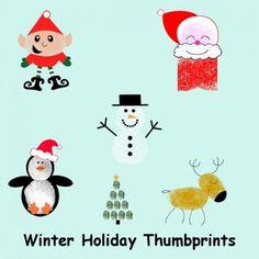 Christmas Thumb Prints