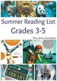 Summer Reading Book List for Elementary Grade 3, Grade 4 and Grade 5 | The Jenny Evolution