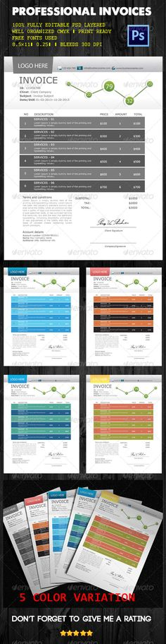 Proposal Template Vol02 - professional invoices