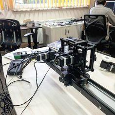 at the office of SlideKamera - motorized system X-MOTOR... в офисе SlideKamera -моторизированная система X-MOTOR #slidekamera #videoproduction #filmmaking #cinematography #movie #motioncontrol #motorized