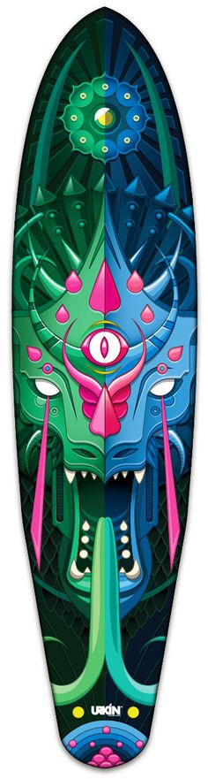 Dragon Longboard / Urkin Skateboards on Behance