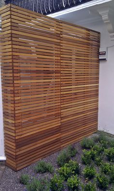 cedar modern privacy fence