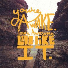 You're Awake You're Awesome LIVE LIKE IT
