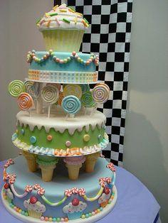 CandyLand Cake....cute!