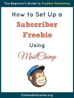 Do you want to offer your email subscribers a freebie using MailChimp? I give you step by step instructions on how to do it here.