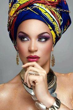 African Beauty, African Women, African Art, Indian Beauty, African Fashion, Black Women Art, Beautiful Black Women, Maquillage Black, Head Scarf Styles
