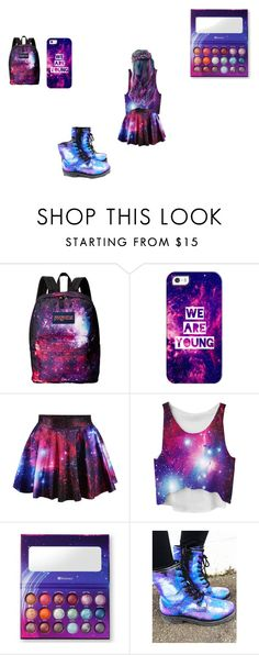 """""""galaxy schooll"""" by low-kii-kitty ❤ liked on Polyvore featuring JanSport and Casetify"""