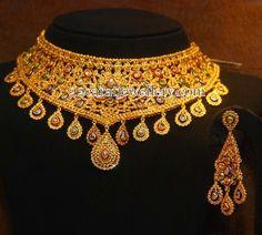 Jewellery Designs: Uncut Set by Malabar Artistry Show