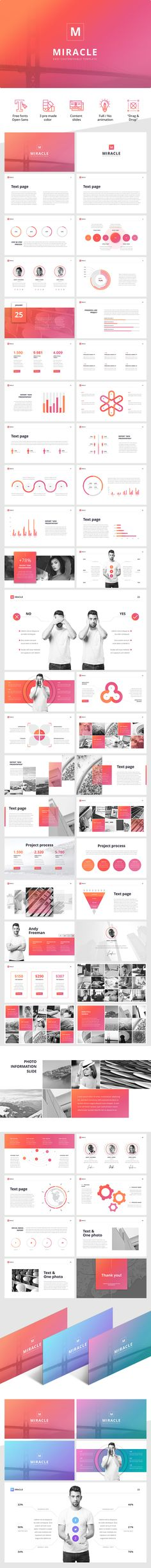 NEW PowerPoint Template Download link: https://hislide.io/product/miracle-powerpoint-template/ #ppt #pptx #powerpoint #slide #slides #template #chart #infographic #design #presentation #miracle #marketing