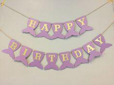 Mermaid birthday banner first birthday mermaid party under