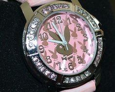 Pink PLAYBOY girls teens fashion watch jewellery