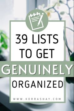 Organization Lists, Organizing Tips, Organising, Writing Lists, Get My Life Together, Organize Your Life, Lists To Make, Self Improvement Tips, Pen And Paper