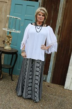 Off The Shoulder Top With Ruffle-Wear Us Out Boutique Conroe/Montgomery Texas