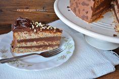 Tort cu alune ciocolata si rom - Retete Timea Doritos, Tiramisu, Deserts, Ethnic Recipes, Rome, Desserts, Postres, Tiramisu Cake, Dessert