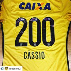 Sport Club Corinthians Paulista - Cássio completou 200 jogos pelo Timão na partida contra o Goiás (15/10/2015)