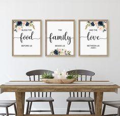 Family Dining Rooms, Dining Room Wall Decor, Nursery Wall Decor, Diningroom Decor, Living Rooms, Bedroom Decor, Kitchen Art Prints, Kitchen Wall Art, Kitchen Decor