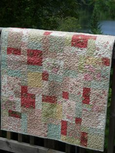 Paris Flea Market Baby Girl Quilt by WoodenNeedleNook on Etsy, $139.00