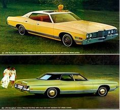 1972 Ford LTD Brougham 4-Door Hardtop and 4-Door Pillared Hardtop