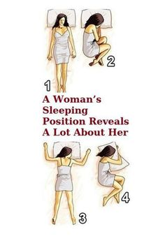 The sleeping position can tell a lot about you. Here are 5 most common positions we still in: 1.Freefall sleeping position Sleeping on the stomach with the hands under the pillow is a position call…
