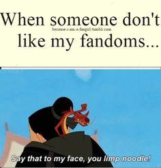 Lol so true! Hunger games / divergent / the maze runner Fandoms / Mulan