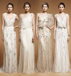 They look like Ancient Greek goddess dresses.
