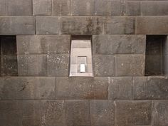 The trapezoidal Inca windows at Qorikancha that Jesse got so excited about.