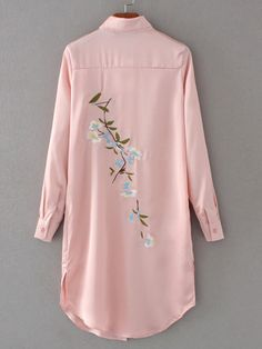 Specifications: Gender:Women Decoration:Embroidery Style:Fashion Clothing Length:Long Sleeve Length:Full Pattern Type:Floral Collar:Turn-down Collar Fabric Type:Satin Sleeve Style:Regular Material:Pol Look Fashion, Hijab Fashion, Fashion Outfits, Womens Fashion, Embroidery Fashion, Embroidery Dress, Embroidery Patterns, Apex Embroidery, Embroidery Fonts