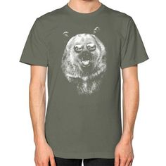 Summer Grizzly Bear Unisex T-Shirt (on man)
