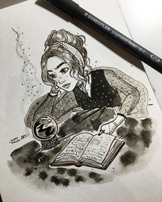 "7,762 Likes, 37 Comments - Judit Mallol (@juditmallolart) on Instagram: ""#inktober day 14!  Learning how to use a  it's not easy ✨"""