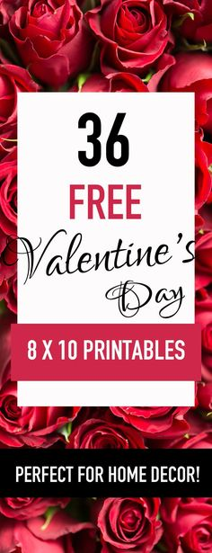 YES! Love these 36 free Valentines Day printables! Plus, there's links to over 230 printables here--a set for every season! Perfect for cheap home decor!