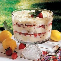 Strawberry Lemon Trifle Recipe | Taste of Home Recipes