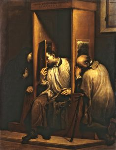 Giuseppe Maria Crespi, (1665 – July 16, 1747) Saint John Nepomuk hears the confession of the Queen of Bohemia