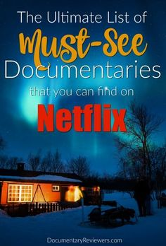 The 18 Best Documentaries on Netflix to Watch Right Now The Ultimate List of Best Netflix Documentaries. If you're looking for a documentary to watch, these are the best that Netflix has to offer! Netflix Movies To Watch, Good Movies To Watch, Netflix Series, Series Movies, Movies And Tv Shows, Best Shows On Netflix, Netflix Titles, Netflix List, Netflix Categories